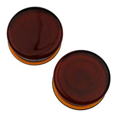 Plugs - Amber Solid Color Plugs By Glasswear Studios
