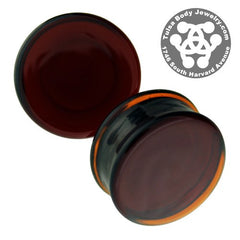 Amber Solid Color Plugs by Glasswear Studios