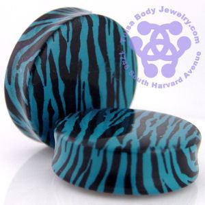 Aqua Blue Zebra Plugs