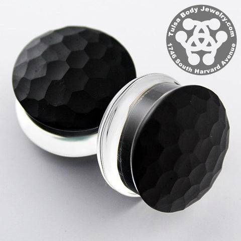 Black Color Front Martelle Plugs by Gorilla Glass