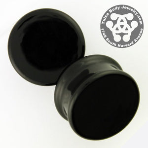 Black Solid Color Plugs by Glasswear Studios