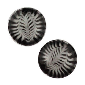 Plugs - Black & White Feather Plugs By Gorilla Glass