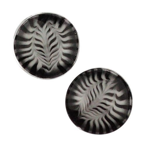 Black & White Feather Plugs by Gorilla Glass