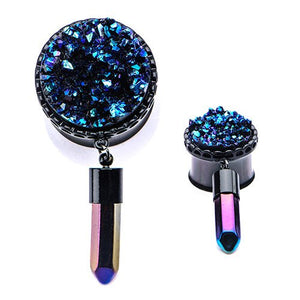 Druzy Dangle Plugs