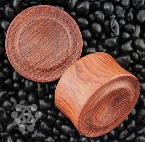 Bloodwood Button Carved Plugs by Siam Organics