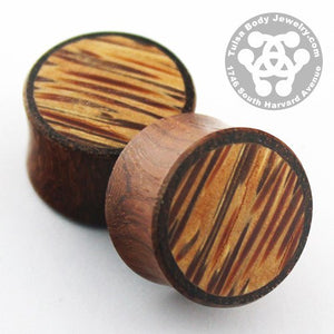 Bloodwood & Coconut Palm Wood Plugs by Siam Organics