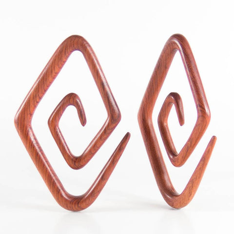 Plugs - Bloodwood Diamond Spirals By Siam Organics