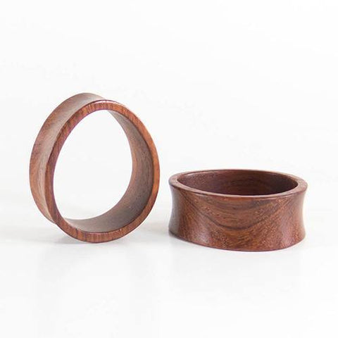 Plugs - Bloodwood Oval Teardrop Tunnels By Siam Organics