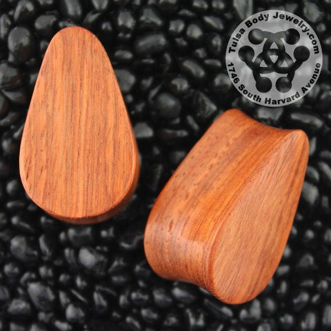 Bloodwood Teardrop Plugs by Siam Organics