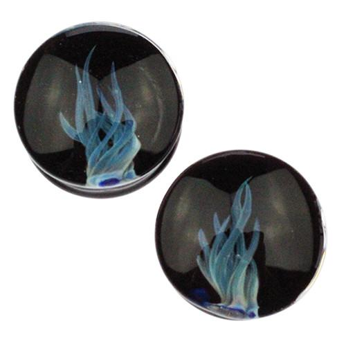 Plugs - Blue Flame Plugs By Glasswear Studios