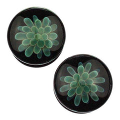 Plugs - Blue Moon Koosh Plugs By Glasswear Studios