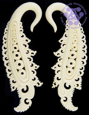 Bone Sash Hangers by Oracle Body Jewelry