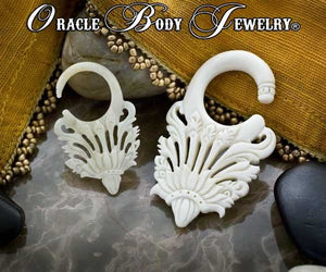 Bone Victoria Hangers by Oracle Body Jewelry