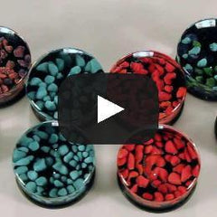 Cherry Pebble Plugs by Glasswear Studios