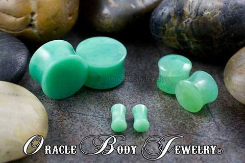 Plugs - Chrysoprase Plugs By Oracle Body Jewelry