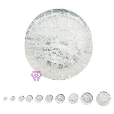 Clear Glass Crackle Plugs