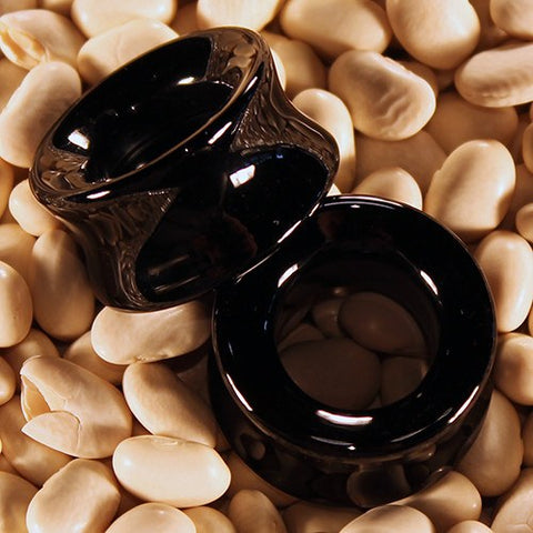 Plugs - Concave Black Onyx Tunnels By Diablo Organics