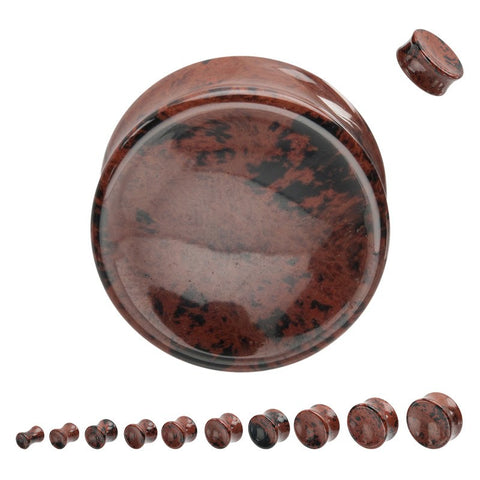 Concave Mahogany Obsidian Plugs