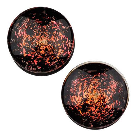 Plugs - Copper Galaxy Plugs By Glasswear Studios
