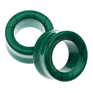 Plugs - Dark Green Turquoise Eyelets By Oracle Body Jewelry