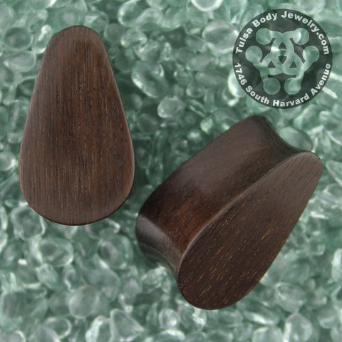 Plugs - Dark Raintree Wood Teardrop Plugs