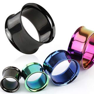 Plugs - Double Flare Anodized Tunnels