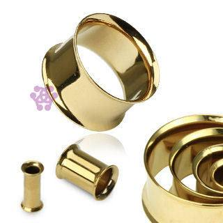 Gold Plated Double Flare Tunnels