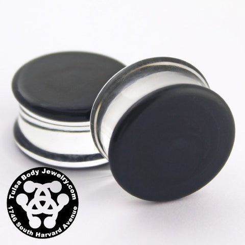 Grey Double Flare Plugs by Glasswear Studios