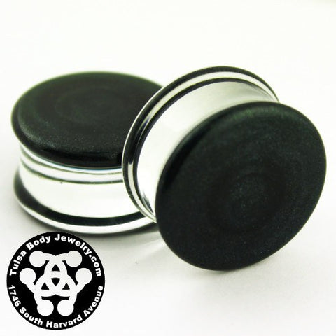 Indigo Sparkle Double Flare Plugs by Glasswear Studios