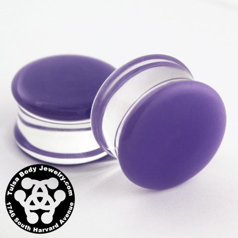 Purple Double Flare Plugs by Glasswear Studios
