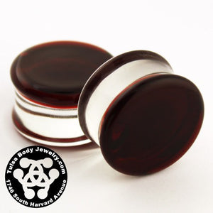 Ruby Double Flare Plugs by Glasswear Studios