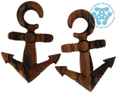 Ebony Anchors Away Hangers by Oracle Body Jewelry