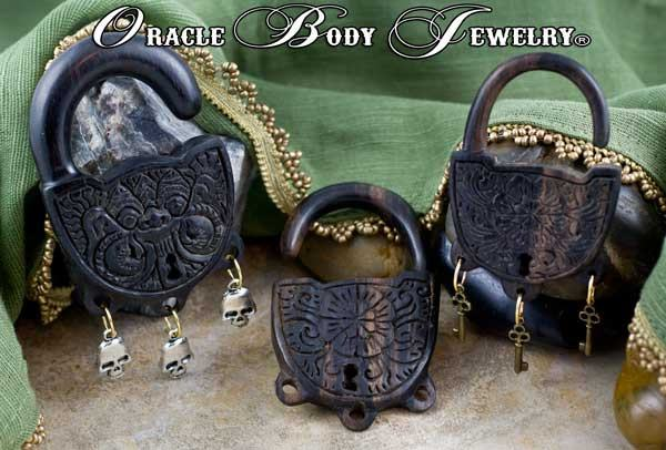 Ebony Locked & Loaded Hangers by Oracle Body Jewelry
