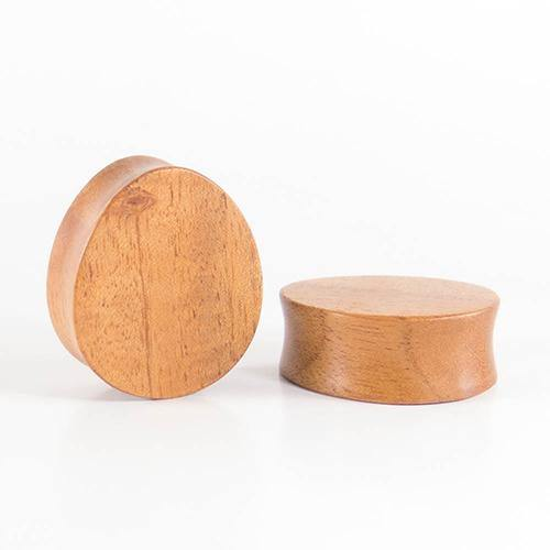 Plugs - Fijian Mahogany Oval Teardrop Plugs By Siam Organics
