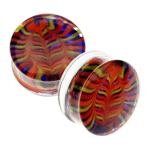 Plugs - Fire Feather Plugs By Gorilla Glass
