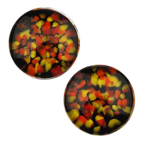 Fire Pebble Plugs by Glasswear Studios