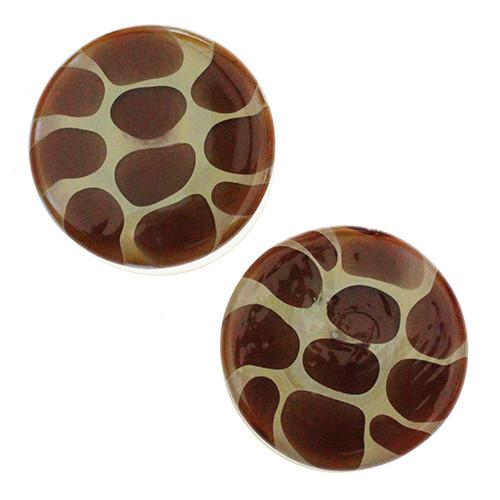 Plugs - Giraffe Print Plugs By Glasswear Studios