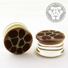 Giraffe Print Plugs by Glasswear Studios