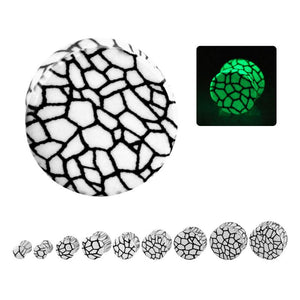 Glow-in-the-Dark Crackle Plugs