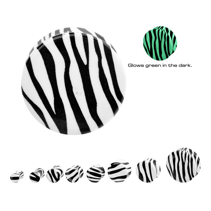 Glow-in-the-Dark Zebra Stripe Plugs