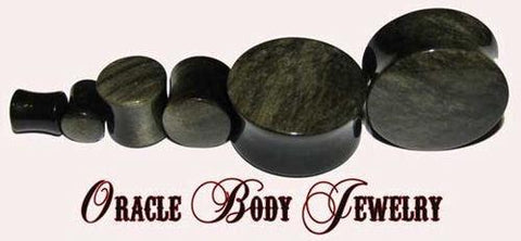 Golden Obsidian Plugs by Oracle Body Jewelry