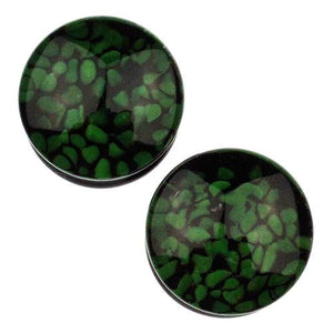 Plugs - Green Pebble Plugs By Glasswear Studios