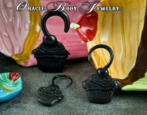 Horn Cupcake Hangers by Oracle Body Jewelry