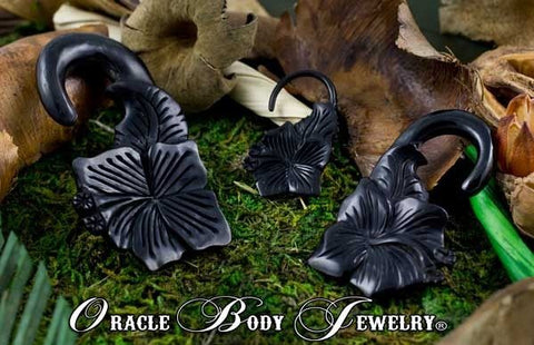 Horn Hibiscus Hangers by Oracle Body Jewelry