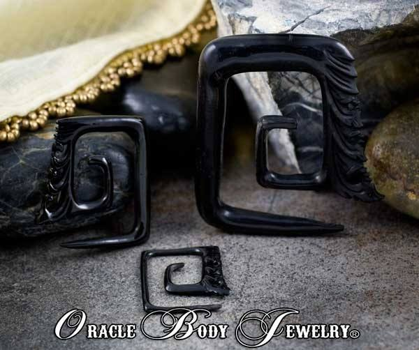 Horn Square Temple Spirals by Oracle Body Jewelry