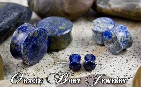 Lapis Plugs by Oracle Body Jewelry