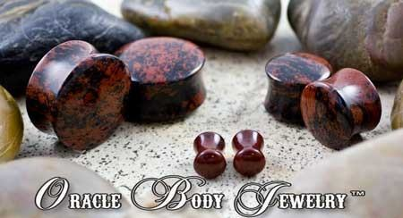 Mahogany Obsidian Plugs by Oracle Body Jewelry