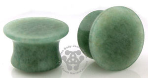 Mayan Flared Amazonite Plugs by Oracle Body Jewelry