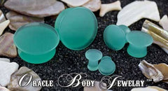 Mayan Flared Mint Opalite Plugs by Oracle Body Jewelry
