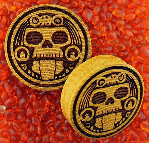 Mayan Skull Plugs by Modifika